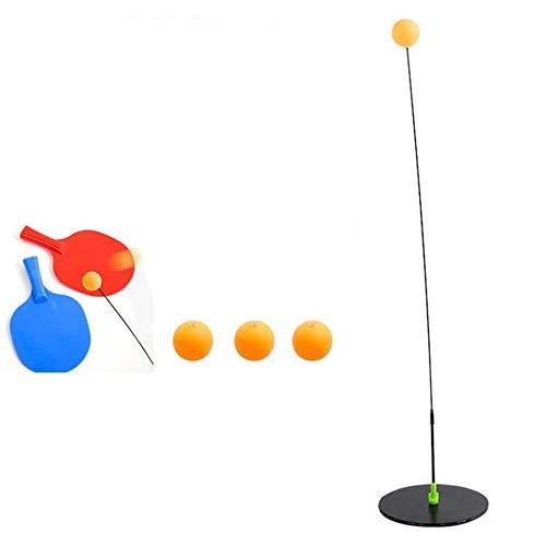 Khcr Herramienta portátil de Entrenamiento de Tenis de Mesa Eje Suave Entrenador de práctica Profesional Ping Pong Ayudante de Entrenamiento Ejercicio en el hogar Niño Adulto,Stainless Steel
