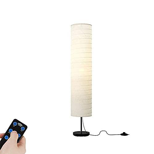 DROMEZ Papel LED Lámpara de Pie, Regulable Luz de Pie con Control Remoto, Temperaturas de Color Ajustable, Temporizador, Base de Metal, Moderna Lámpara de Suelo para Sala de Estar Estudio