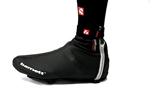 Barnett BSP-05 fietsoverschoenen, waterafstotend, kleur zwart
