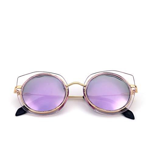ERSD Brillen Chameleon Sunglasses UV400 Verspiegelte Brillengläser für Frauen Motion Polarized Sonnenbrillen Fahren UV-Schutz Sonnenbrillen mit Metallrahmen (Farbe : Purple Frame/Purple Lens)