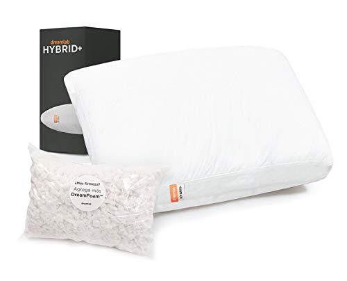 Almohada Hybrid+ | Nuestra Almohada Más Avanzada | Única con tecnología Una Almohada Dentro de Otra, Suavidad y Soporte a la Vez | Memory Foam y Microfibras recubiertas en gel |...