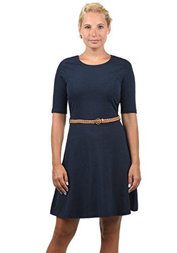 VERO MODA Scarlet Damen Jerseykleid Shirtkleid Kleid Mit Rundhals-Ausschnitt Elastisch, Größe:M, Farbe:Navy Blazer