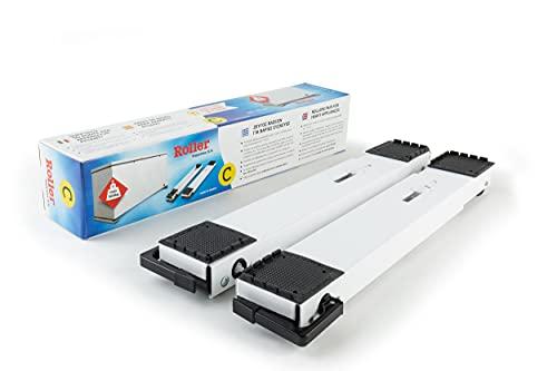 Roller 2er-Set Transportroller Zubehör für Kühltruhen 40-70 cm bis 300 kg (Weiß)