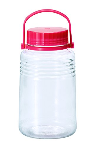 アデリア ガラス 保存容器 梅酒 果実酒瓶 中栓付き 4L クリア 5号 日本製 761