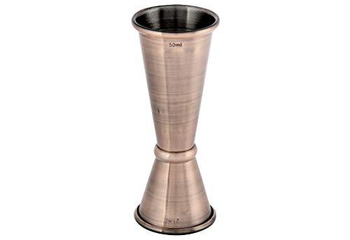 APS barmaat van roestvrij staal, Ø 4 cm, hoogte 11 cm, antiek koper-look volume: 2,5/5 cl