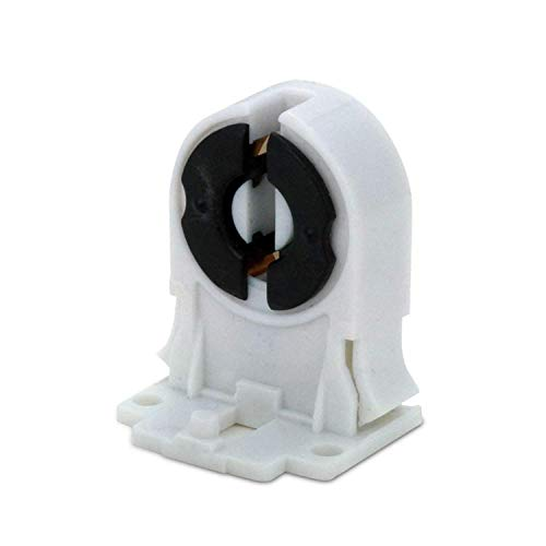 MAILUX SOD14739 T8 / G13 Leuchtstofflampen-Halter Sockel Buchse Fassung | Für AC100-250V LED oder Leuchtstoffröhre | Kunststoff weiss | 10 Stück