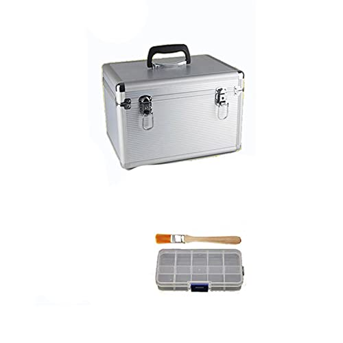 PPLAS Allega di Alluminio Toolbox Box Suitcase Strumento di Strumenti Attrezzature Scatola di File Custodia cosmetica Caso di Alluminio Case Utensili con Spugna
