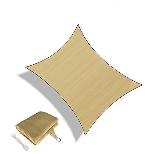 Sunnylaxx Tenda a Vela Rettangolare 4 x 6 Metri, Resistente e Traspirante, per spazi all'aperto, Color Sabbia