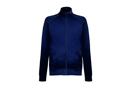 Fruit of the Loom Herren Sweatshirt Lightweight Sweat Jacket, Blau (Deep Navy Az), Medium
