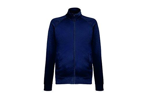 Fruit of the Loom Herren Sweatshirt Lightweight Sweat Jacket, Blau (Deep Navy Az), Large