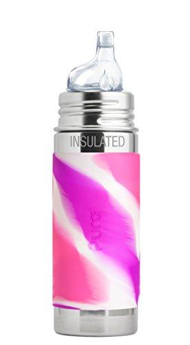 Pura Isolierte Edelstahl Kleinkinder Flasche mit Silikon XL Sipper Auslauf (Kunststoff, ungiftig zertifiziert, frei von Bisphenol A