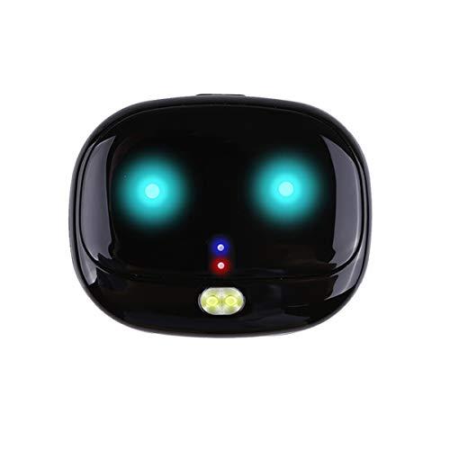 LDDPP Mini localizador GPS en tiempo real pequeño perseguidor GPS para perros Localizador de gato con collar de mascotas Historia Ruta impermeable Track Alarm Device Free APP (negro)