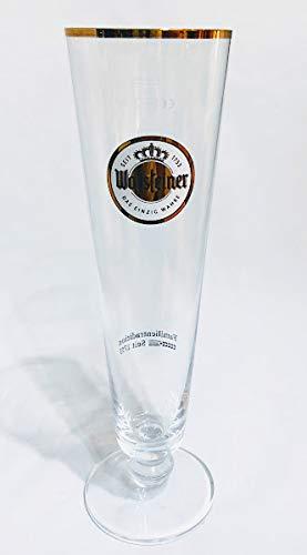 Warsteiner 0,4l Glas/Goldrand/Gläser/Bierglas/Biergläser/Tulpe/Gastro/Bar/Party / 1 Stück
