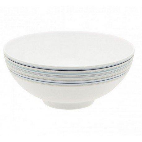 DEGRENNE 227595 Saladier Rond, Porcelaine, Bleu, 26 x 25,4 x 11,4 cm