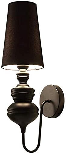 WEM Lámpara de pared novedosa, con lámpara de lectura LED con lámpara flexible cromada (lámpara redonda con lámpara de lectura)