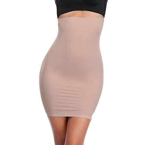 JOYSHAPER High Waist Half Slips for Women Under Dresses Tummy Control Slimming Body Shaper Shapewear Beige