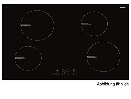 Vestel vea35706 autarkes Plaque à induction avec fonction booster | 4 zones | plaque de cuisson encastrable 78 x 60 avec TouchControl