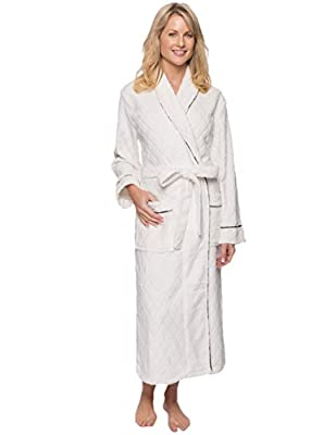 Noble Mount Women's Premium Coral Fleece Plush Spa/Bath Robe