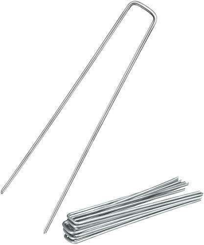 Balinco 25x Anti-ROST Erdanker | Bodenanker | Erdnägel aus verzinktem Stahl zur Befestigung von Unkrautvlies | Unkrautfolie | Gartenvlies | Zaun & Netz oder fürs Camping - (25, 250x25x4,1 mm)