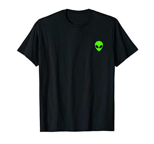 Alien Head Pocket Patch T-Shirt for Men and Women