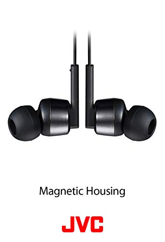 JVC Noise Cancelling Wireless Earbuds, Rain Proof IPX4, Voice Assistant Compatible - HAFX65BNB(Black)