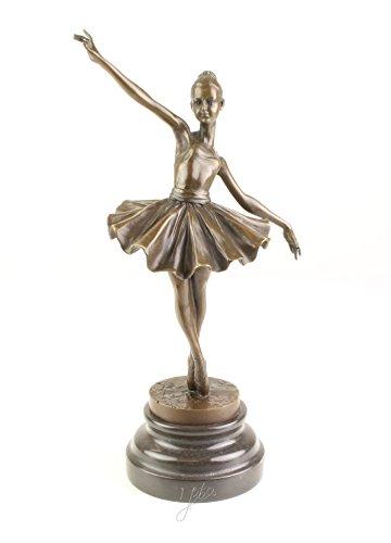 Bronzefigur Skulptur Statue Ballerina Tänzerin bronze 31,7 cm