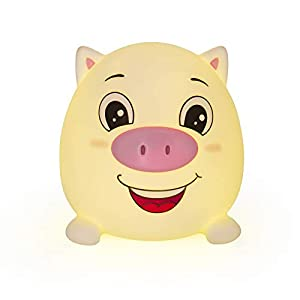 crib bedding and baby bedding cute pig night lights for kids soft animal lights for toddler baby newborn rechargeable touch led lamps for nursery breastfeeding perfect girls boys easter gifts cool children bedrooms decor