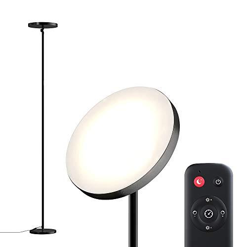 Lampara de Pie, dodocool Lampara de Pie LED Regulable, 2800K-7000K, Hasta 2800 Lúmenes, 28W Temperatura de 4 colores Ajustable Lampara Salon