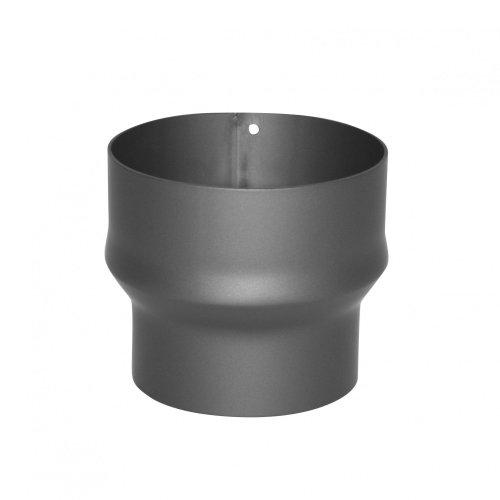 Kamino–Flam – Adaptador de reducción para tubo de chimenea, Acero tubo reducción estufa, Reductor tubo escape, Gris oscuro, Ø 150-120 mm