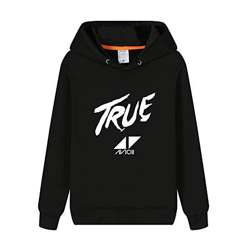 DJ Avicii Pullover Winter Mit Kapuze Strickjacke Männer Langarm Pullover Lässige Mode Baumwolle Sweatshirt Unisex (Color : Black06, Size : M)