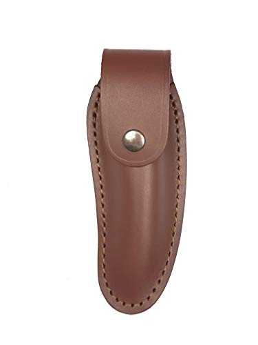 Bio Mordiscos Etui aus hochwertigem Rindsleder (Glattleder). Traditionelle Behandlung - Taschenmesser-Etui (Braun)