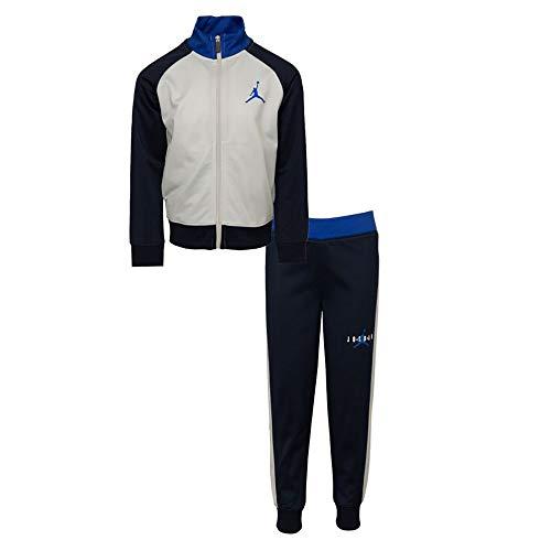 Jordan Nike Baby Boys Jumpman Jacket & Jogger Pants 2 Piece Set (Obsidian(656461-695)/Grey, 12 Months)