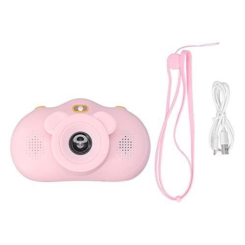 Kinderkamera, 1080P Selfie Digital Video LED-Blitz Hochauflösende Objektive Kinderkamera mit Fotoaufkleberfunktion Autofokus, 2,0-Zoll-Bildschirm Geburtstagsgeschenk für Kleinkinder Mädchen Jungen