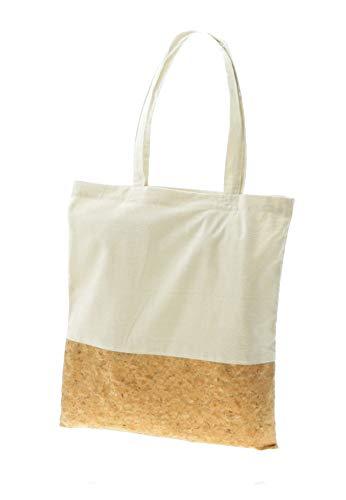 Bolsas de tela reutilizables, tote bag ecológico, biodegradable, Bolsa de materiales naturales en combinación de algodón y corcho lavable, Uvimark