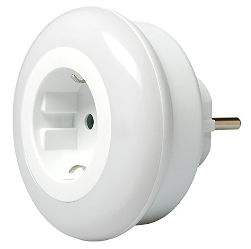 i-SOTA LED Nachtlicht, Steckdosen-Licht als Zwischenstecker, Kinder Sicherung, Farbwechsel Weiß Blau Grün über Touch-Schalter, Orientierungslicht Nachtlampe mit Dämmerung Sensor, stromsparend