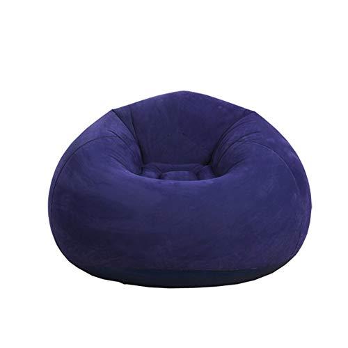 AZWER Bohnenbeutel Stuhl Sofa waschbar luftstuhl aufblasbare Sofa Stuhl faul Sofa weiche aufblasbare einzelne Sofa Lounger für Haus Garten Lounge Wohnzimmer,Navy Blue