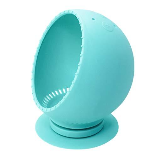 Pour Amazon Echo Spot 360 Rotation Stand Etui Housse de Protection Silicone Smart Assistant Protector (Bleu ciel)