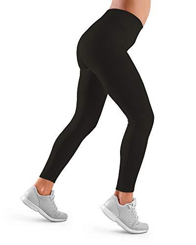 Farmacell 609H (Noir, S) Leggings Femme Fitness Sportifs Tissu Extensible et Thermique Yoga Gymnastique