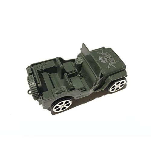 Verrijdbare Jeep Terreinwagen Militair Mentaal Zand Tafel Scene Scooter Model Speelgoed
