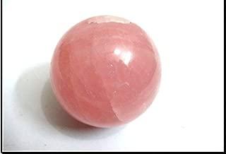 Jet Rose Quartz 45-50 mm Ball Sphere Gemstone A+ Hand Carved Crystal Altar Healing Devotional Focus Spiritual Chakra Cleansing Metaphysical