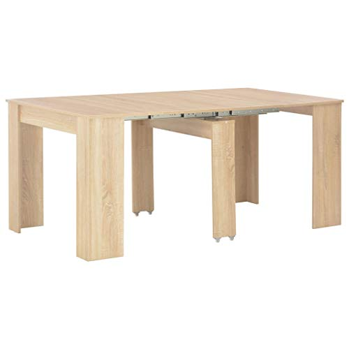 HUANGDANSP Mesa de Comedor Extensible Color Roble Sonoma 175x90x75 cm Mobiliario Mesas Mesas de Cocina y de Comedor