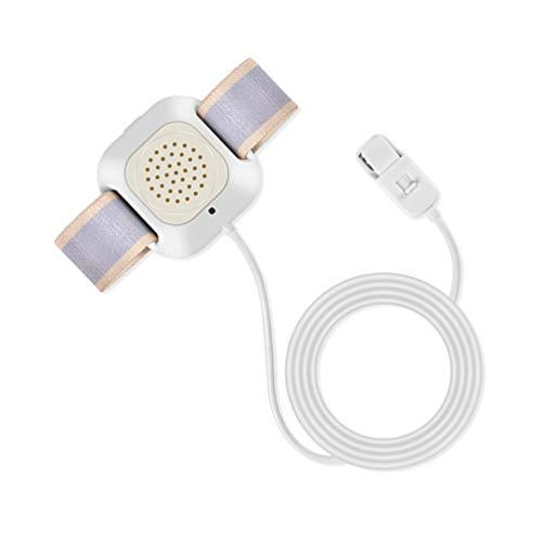 NUOBESTY Enuresis Enuresis Alarma Sonido Vibración Monitor de Cama Niños Entrenamiento para Ir Al Baño para Enuresis Nocturno Sistema de Alarma para Niños Niñas Niños Anciano Blanco