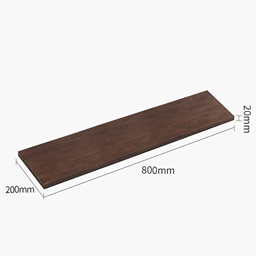 Drijvende Planken, Houten Decoratief, Drijvende Plank Slaapkamer Woonkamer, Home Decor Plant Plank Foto Richel, Drijvende Opslag Plank,Eiken Rek-Walnoot 800X200X20Mm