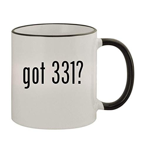 got 331? - 11oz Ceramic Colored Rim & Handle Coffee Mug, Black