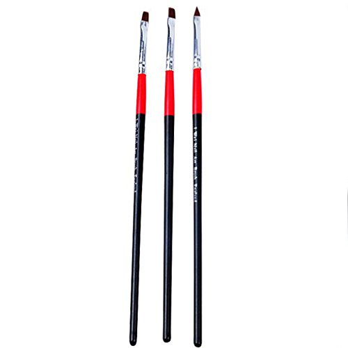 3pcs Set UV-Gel-Nägel Bunte Nail Art Pen Maniküre Nägel Zeichenwerkzeuge