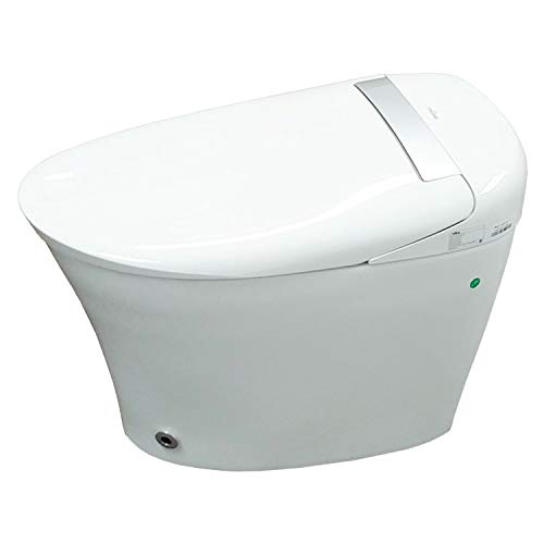 Trone Aquatina II Smart Toilet with Integrated Warm Water Bidet and Heated Air Dryer in White