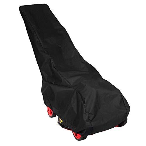 OTOTEC Housse de Tondeuse à Gazon Pluie Étanche Universel Polyester 210D Globale Cordon de Protection Contre Intempéries Noir 193x63.5x112cm