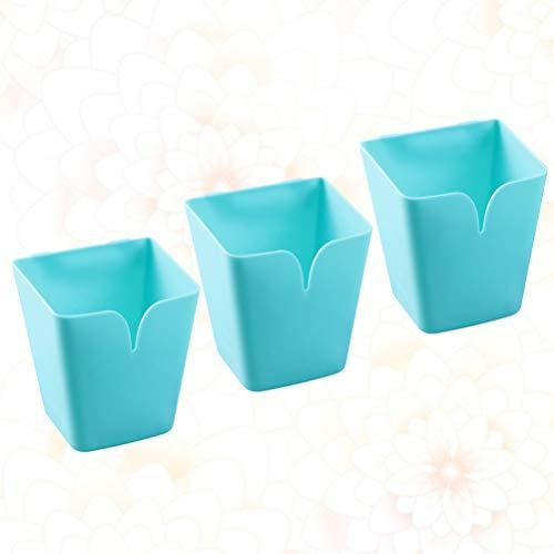 Garneck 3Pcs Wandspeicher Eimer Saugnapfhalter Küchenspüle Tasse Shampoo Zahnbürste Regal Veranstalter Desktop-Tasse für Badezimmer nach Hause