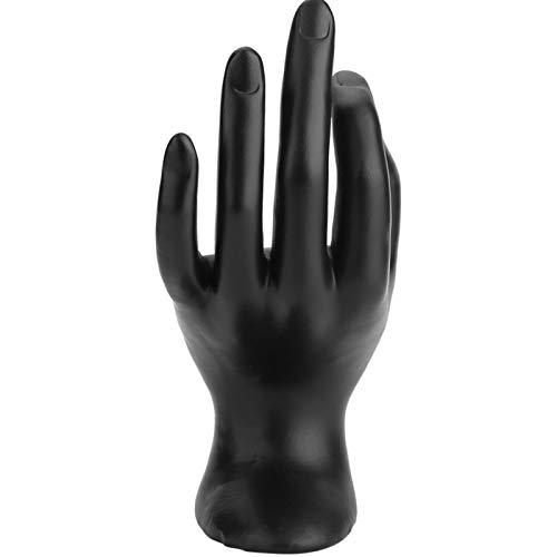 Soporte de exhibición de brazalete, soporte de exhibición de anillos Negro OK con gestos a mano para venta al por mayor para el hogar para tiendas minoristas(black, Resin)
