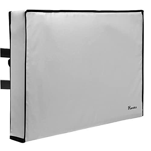 """Outdoor TV Cover 80"""" - 85"""" inch - Universal Weatherproof Protector for Flat Screen TVs - Fits Most TV Mounts and Stands - Gray"""
